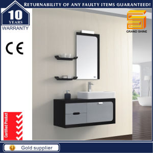 Sanitary Ware White Lacquer Bathroom Vanity Cabinet with Mirror Cabinet pictures & photos