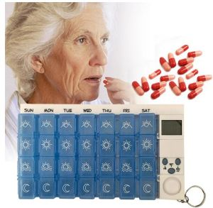 Digital 7days Pill Reminder Pill Box Case Timer pictures & photos