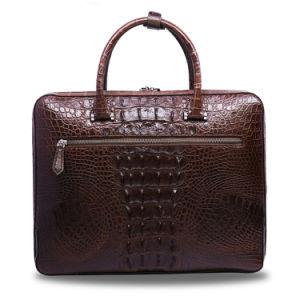 Men Genuine Leather Bag Crocodile Men′s Business Laptop Briefcase pictures & photos