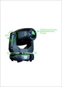 China Mini LED 250W Moving Head Spotlight Zoom for Stage pictures & photos