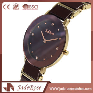Fashion Wholesale Large Round Dial Stainless Steel Quartz Watch pictures & photos