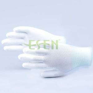 Newsail 13G Polyester Liner with 1/2 PU Sandy Finished Safety Gloves / Working Glove / 1/2 PU Coating pictures & photos
