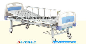 Two Cranks Manual Hospital Bed with ABS Head Foot Board (SC-EB05) pictures & photos