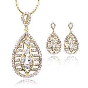 Dubai 18k Gold Plated Jewelry Set in Latest Design for Women pictures & photos