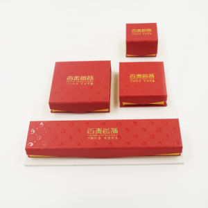 Custom Luxury Jewelry Box with Golden Printing (J108-E2) pictures & photos