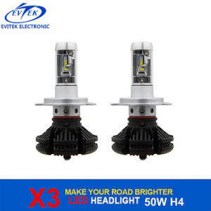 Automobile Lighting 50W 6000lm X3 LED Headlight Bulb H4 H13 9004 H1 H3 H7 H11 9005 6000K pictures & photos