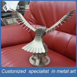 Golden 8k Mirror Eagle Stainless Steel Decoration Handicrafts for Display/Exhibition pictures & photos