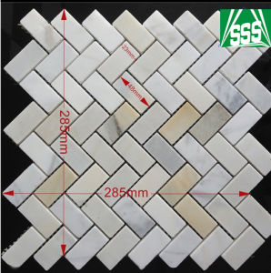 Tumbled Grey Oval Pebble Meshed Mosaic Tiles for Wall Cladding pictures & photos