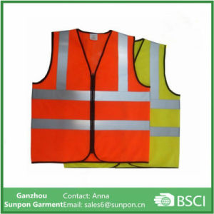 Wholesale Cheap Bright Color Hi-Vis Fluorescent Safety Reflective Vest pictures & photos