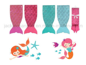 Foil Print Little Mermaid Blanket pictures & photos