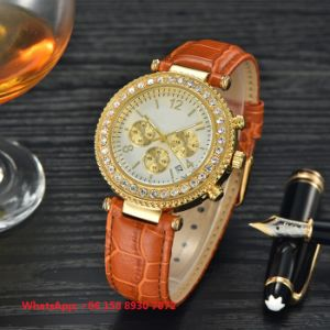 Wonderful Pretty Quartz Women′s Watches with Genuine Leather Strap Fs681 pictures & photos