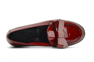 2017 Fashion Lady Bowknot Women Patent Leather Casual Flat Shoes pictures & photos