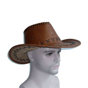 PU Black Cowboy Hat with Spike pictures & photos