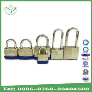 Safety Laminated Padlock with Brass Cylinder and Brass Key (740) pictures & photos