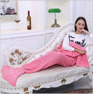 Popular Adult Portable Mermaid Cotton Blanket pictures & photos