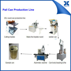 Round Can Production Line Pail Can Making Machine pictures & photos