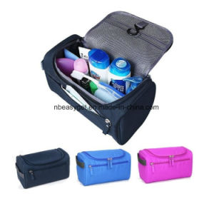Waterproof Travel Kit Organizer Bathroom Storage Cosmetic Bag Carry Case Toiletry Bag with Hanging Hook Multiple Colors pictures & photos