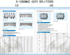 4 Way CATV Splitter (SHJ-TS8804) pictures & photos