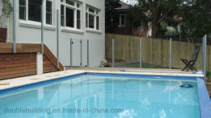 Slot Post Frameless Glass Railing Swimming Pool Glass Fence pictures & photos