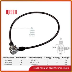 Jq8301 Black Color Lock Security Bicycle Lock Password Lock pictures & photos