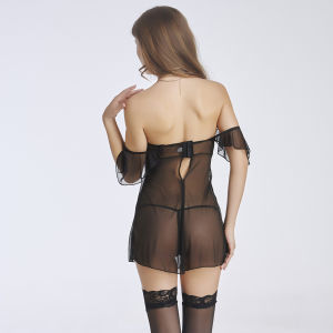 Hot Lingerie Adult Women Sexy Nighty Short Dress Babydoll Sleepwear pictures & photos