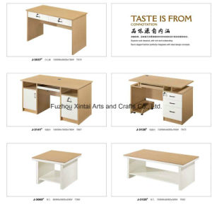Chinese Simple Elegant Wood with White Office Table Design pictures & photos
