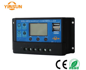 30A 12V or 24V PWM Solar Charge Controller, LCD Display Solar Panel Charge Battery pictures & photos