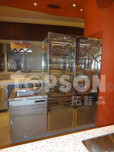 201 / 304 / 316 Stainless Steel Furniture Table Showcase Cabinet Fabrication with Color Coating pictures & photos