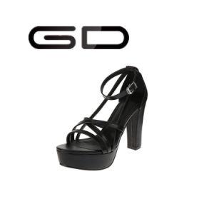 Summer Sandals Shoes Black Color pictures & photos