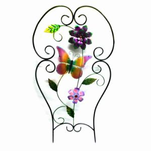 Wholesale Metal Fence Craft with Cloth Flower Garden Decoration pictures & photos