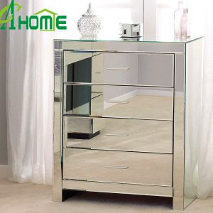 Cheap Furniture 4 Drawers Mirror Nightstands pictures & photos