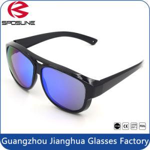 Matte Black Frame Iridium Blue Sport Sunglasses Anti UV 400 pictures & photos
