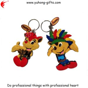 Custom Design Animal Shape PVC Rubber Keychain (YH-KC158) pictures & photos