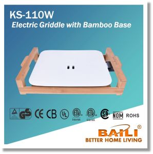 Electric Griddle with Bamboo Base pictures & photos