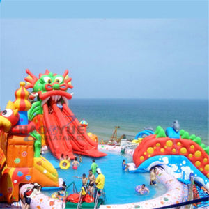 30m Giant Inflatable Water Park with Pool Slide for Land pictures & photos