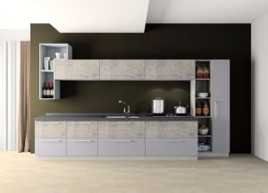 Modern UV High Glossy Kitchen Cabinet pictures & photos