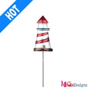 Quite Simple Beautiful Lighthouse Metal Garden Stake pictures & photos