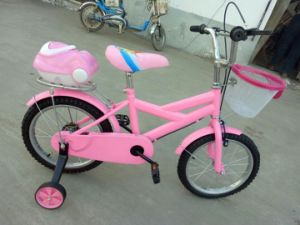 Pink with Rear Tools and Front Basket Girls Bicycles pictures & photos