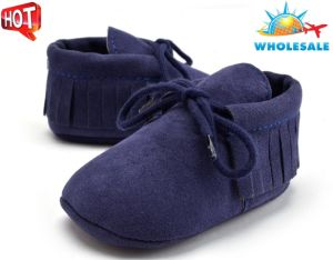 Wholesale Soft Soles Lace-UPS Shoes Indoor Baby Shoes pictures & photos