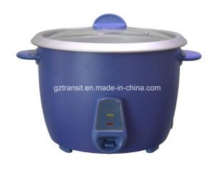 Drum Type Colorful Electric Rice Cooker with Glass Lid pictures & photos