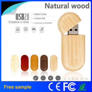 Natural Wooden USB Flash Drive Custom Logo pictures & photos