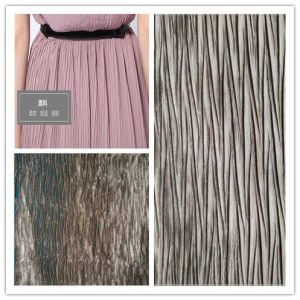 Satin Crepe Fabric, Polyester and Woven Fabric for Garment pictures & photos