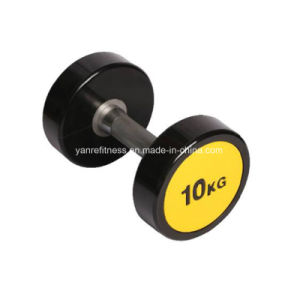 Gym Fitness Equipment Accessories Crossfit PU Dumbbell Polyurethane Dumbell pictures & photos