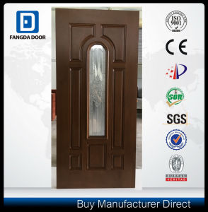 8 Panel Fiberglass Door Slab with Center Arch Glass 8*42rt pictures & photos