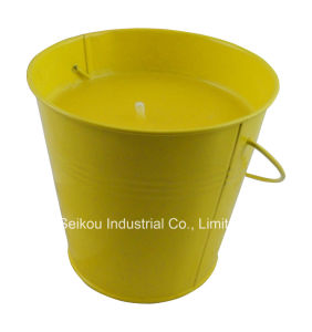 Color Painted Citronella Bucket Candle with Handle (SK8082)