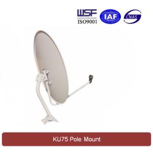 Ku 75cm Satellite Dish Antenna (Pole Mount) pictures & photos