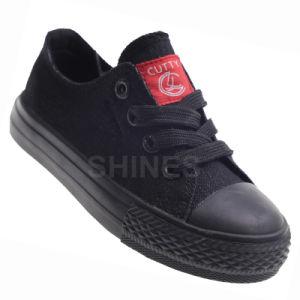 Boy′s Washed Denium Vulcanized Shoes pictures & photos