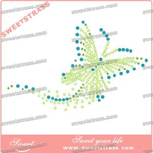 Heat Transfer Crystal Design to Iron on Dress pictures & photos