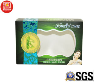 PVC/Pet Window Custom Soap Packaging Paper Box