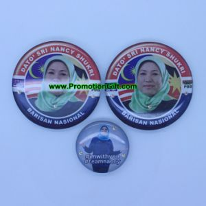 Custom Printed LED Blinking Badge pictures & photos